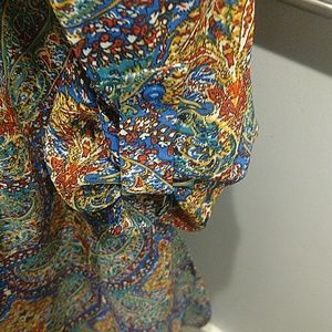 bobeau Tops - Bobeau Knee Length 1X Tunic Paisley Print